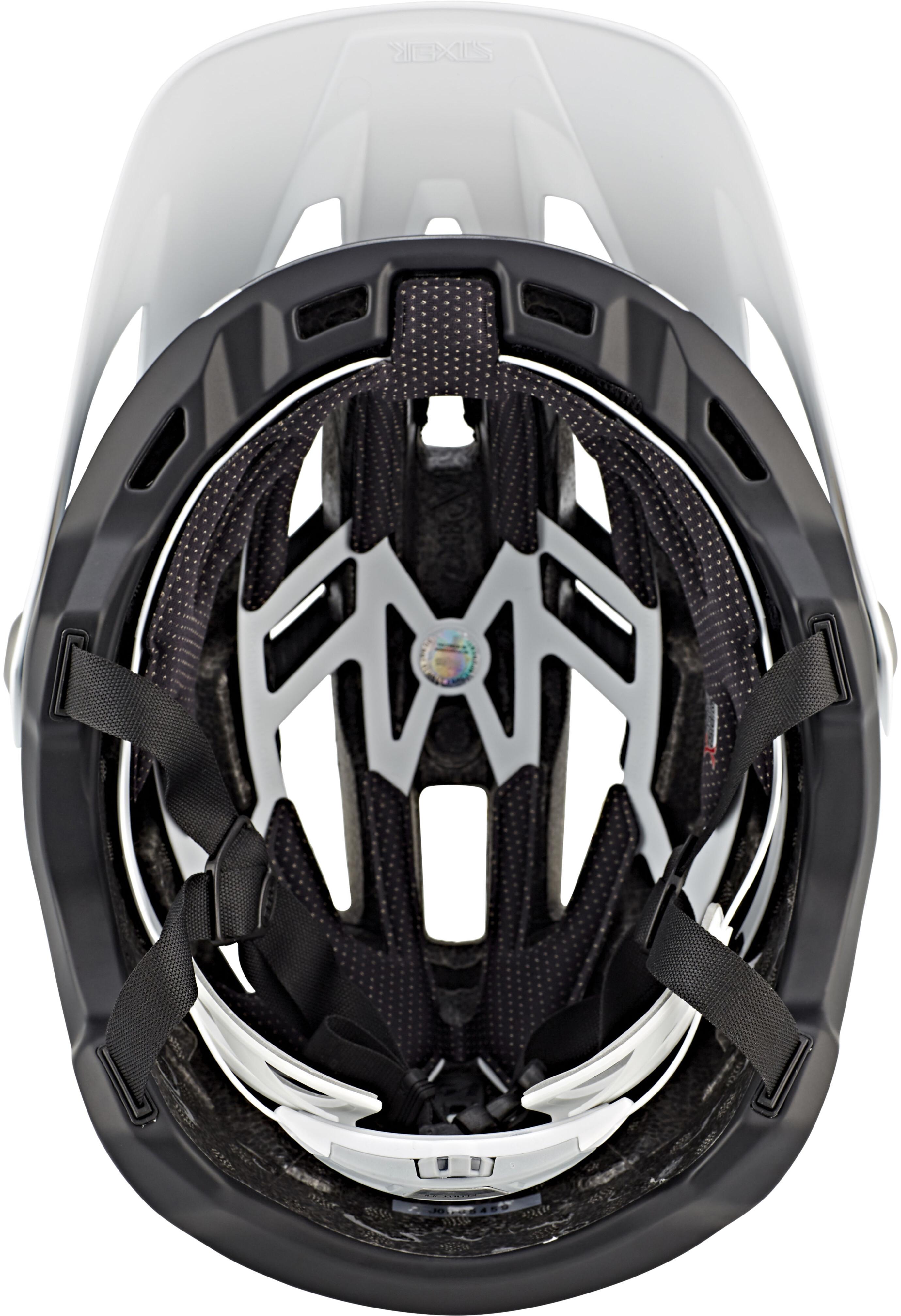 bell sixer mips mtb helmet matte white black online. Black Bedroom Furniture Sets. Home Design Ideas